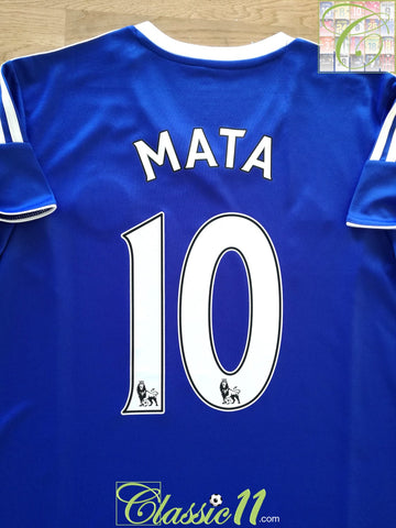 2013/14 Chelsea Home Premier League Football Shirt Mata #10 (W) (XL)
