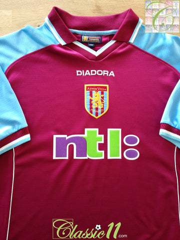 2000/01 Aston Villa Home Football Shirt (L)