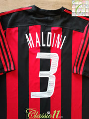 2003/04 AC Milan Home Football Shirt Maldini #3 (XL)