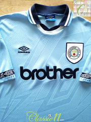 1993/94 Man City Home Football Shirt (XXL)