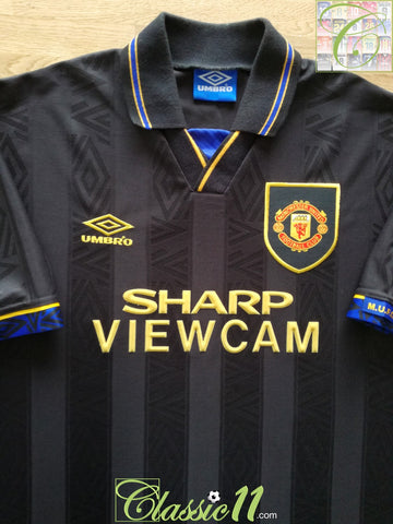 1993/94 Man Utd Away Football Shirt (L)