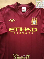 2012/13 Man City Away Football Shirt (M) (L)