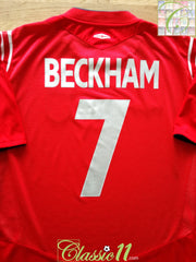 2004/05 England Away Football Shirt Beckham #7 (W) (Size 16)