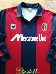 1989/90 Bologna Home Football Shirt. (XL)