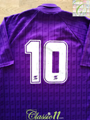 1989/90 Fiorentina Home Football Shirt (Baggio) #10 (XL)