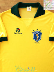 1988/89 Brazil Home Football Shirt (M)