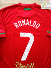 2010/11 Portugal Home Football Shirt Ronaldo #7 (M)