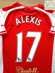 2014/15 Arsenal Home Premier League Football Shirt Alexis #17 (M)
