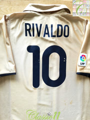 2001/02 Barcelona Away La Liga Football Shirt Rivaldo #10 (L)