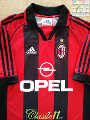 1998/99 AC Milan Home Football Shirt (M)