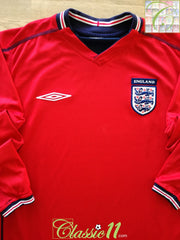 2002/03 England Away Football Shirt. (S)