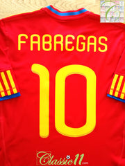 2009/10 Spain Home Football Shirt Fabregas #10 (S)