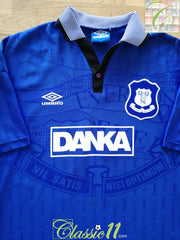 1995/96 Everton Home Football Shirt (L)