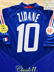 2004 France Home European Championship Football Shirt Zidane #10 (L)