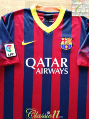2013/14 Barcelona Home La Liga Football Shirt (L)