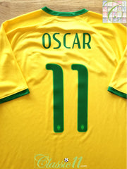 2014/15 Brazil Home Football Shirt Oscar #11 (M)