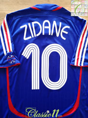 2006/07 France Home Football Shirt Zidane #10 (M)