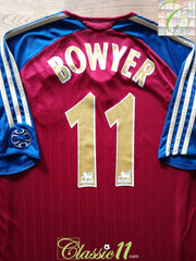 2006/07 Newcastle United Away Premier League Football Shirt Bowyer #11 (L)
