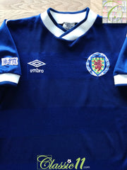 1985/86 Scotland Home Football Shirt (B)