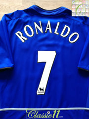 2002/03 Man Utd 3rd Premier League Football Shirt Ronaldo #7 (M)