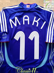 2006/07 Japan Home Football Shirt Maki #11 (M)