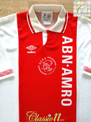 1991/92 Ajax Home Football Shirt (XL)