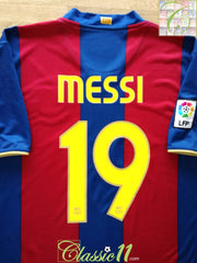 2007/08 Barcelona Home La Liga Football Shirt Messi #19 (XL)