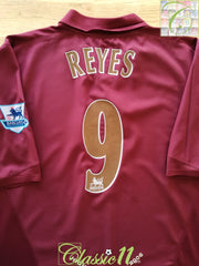 2005/06 Arsenal Home Premier League Football Shirt Reyes #9 (XXL)