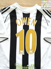 2005/06 Newcastle United Home Premier League Football Shirt Owen #10 (B)