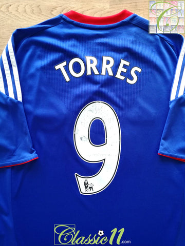 2010/11 Chelsea Home Premier League Football Shirt Torres #9 (M)