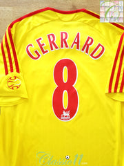 2006/07 Liverpool Away Premier League Football Shirt Gerrard #8 (S)