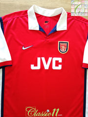 1998/99 Arsenal Home Football Shirt (B)