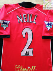 2002/03 Blackburn Rovers Away Premier League Football Shirt Neill #2 (XXL)