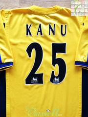 1999/00 Arsenal Away Premier League Football Shirt Kanu #25 (S)