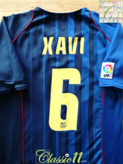 2004/05 Barcelona Away La Liga Football Shirt Xavi #6 (M)