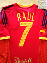 2002/03 Spain Home Football Shirt Raul #7 (M)