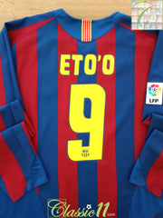 2005/06 Barcelona Home La Liga Football Shirt. Eto'o #9 (XL)