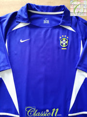 2002 Brazil Away Football Shirt (L)