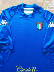 2000/01 Italy Home Basic Football Shirt (XXL)