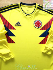 2018/19 Colombia Home Football Shirt. (S)