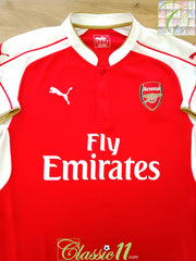 2015/16 Arsenal Home Football Shirt (S)