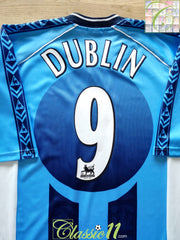1998/99 Coventry City Home Premier League Football Shirt Dublin #9 (XXL)
