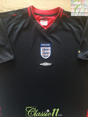 2003/04 England Goalkeeper Football Shirt (M)