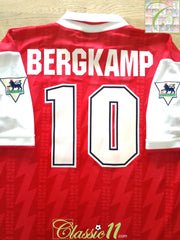 1995/96 Arsenal Home Premier League Football Shirt Bergkamp (XXL)