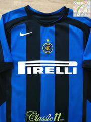 2005/06 Internazionale Home Football Shirt (B)