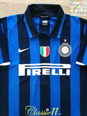 2007/08 Internazionale Home Serie A Centenary Football Shirt (L)