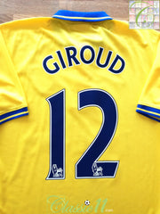 2013/14 Arsenal Away Premier League Football Shirt Giroud #12 (S)