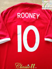 2010 England Away World Cup Football Shirt Rooney #10 (XXL)