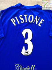 2002/03 Everton Home Premier League Football Shirt Pistone #3 (XXL)