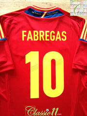 2011/12 Spain Home Football Shirt Fabregas #10 (M)